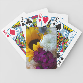 Sunflower Surprise Bicycle Playing Cards