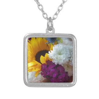 Sunflower Surprise Silver Plated Necklace