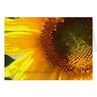 Sunflower Sympathy Card