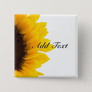Sunflower template 15 cm square badge