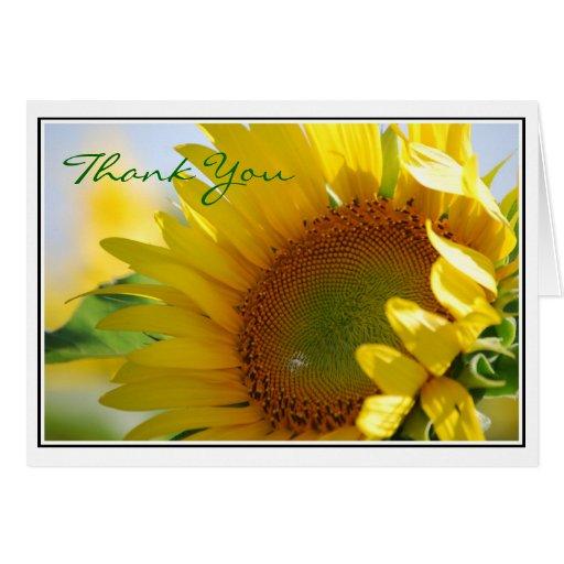 Sunflower Thank You Card