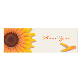 Sunflower Thank You Custom Card Pack Of Skinny Business Cards