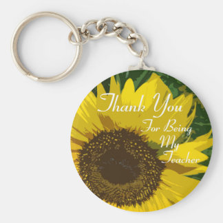 Sunflower Thank You Teacher Key Ring