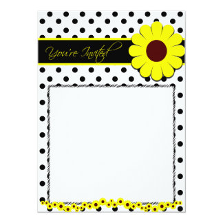 Sunflower Theme Invitation Card for any age