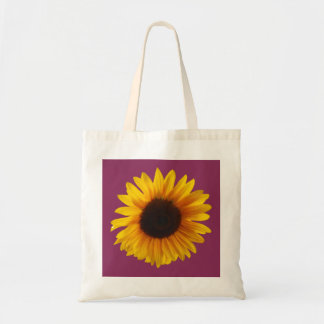 Sunflower Tote Bag (Gold and Raspberry)