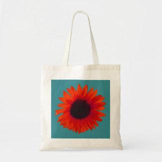 Sunflower Tote Bag (Orange and Teal)