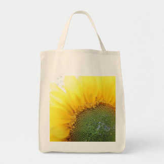 Sunflower tote grocery tote bag
