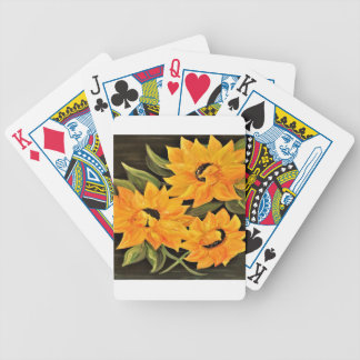 Sunflower Trio Bicycle Playing Cards