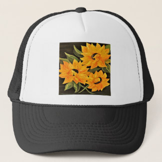 Sunflower Trio Trucker Hat