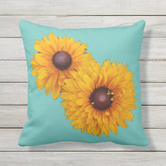 Sunflower Twins Outdoor Cushion