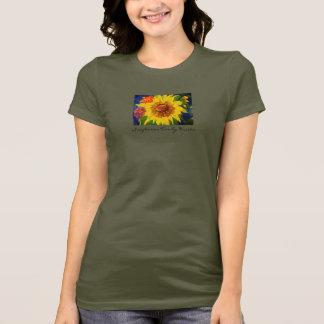 Sunflower Two by Kristie Custom T-Shirt
