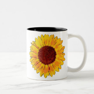 Sunflower Two-Tone Coffee Mug