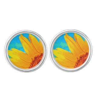 Sunflower Van Gogh Square Cufflinks