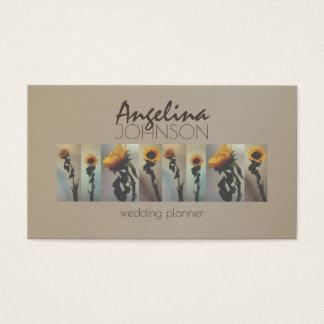 Sunflower Vintage Wedding Planner Elegant Fashion Business Card