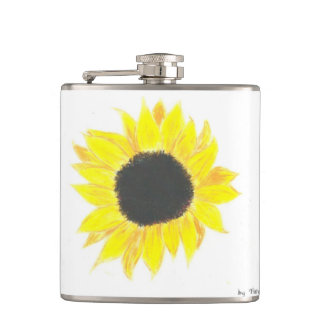 Sunflower Vinyl Flask