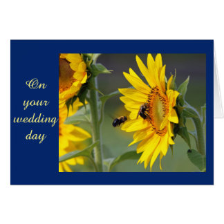 Sunflower Wedding Card