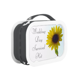 Sunflower Wedding Day Survival Kit Box Lunchbox
