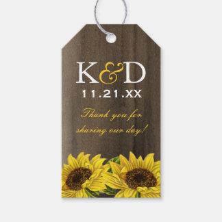 Sunflower Wedding Favor Gift Hang Tag