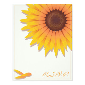 Sunflower Wedding Invitation RSVP Card