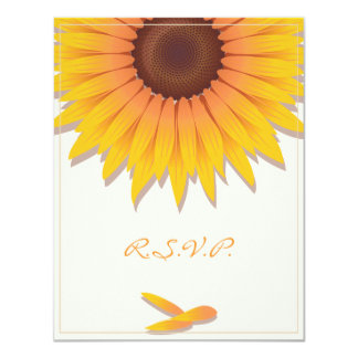 Sunflower Wedding Invitation RSVP Card 2