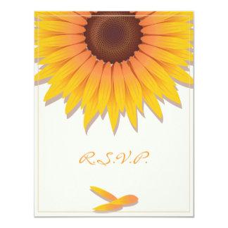 Sunflower Wedding Invitation RSVP Card 2