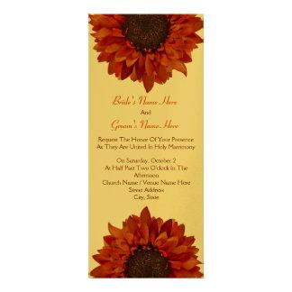 Sunflower Wedding Invite - From Bride Groom