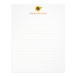 Sunflower Wedding Planning Pages