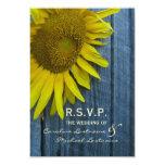 Sunflower Wedding RSVP 9 Cm X 13 Cm Invitation Card