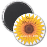 Sunflower Wedding Save The Date Announcement 2 Refrigerator Magnets