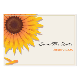 Sunflower Wedding Save The Date MiniCard 2 Business Card Template