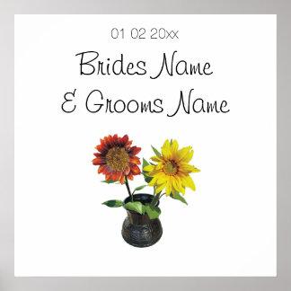 Sunflower Wedding Souvenirs Keepsakes Giveaways Poster
