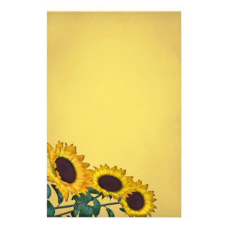 Sunflower Wedding Stationery Paper