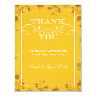 Sunflower Wedding Thank You Cards 11 Cm X 14 Cm Invitation Card