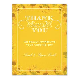 Sunflower Wedding Thank You Cards 11 Cm X 14 Cm Invitation Card