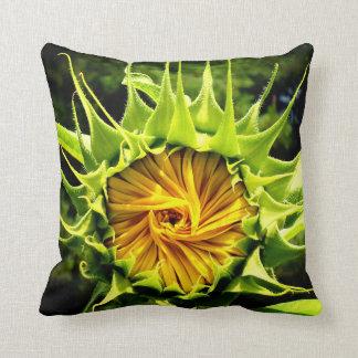 Sunflower whirl cushion