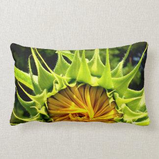 Sunflower whirl lumbar cushion