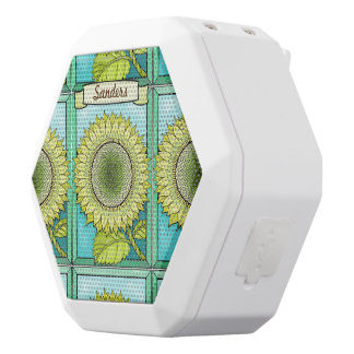 Sunflower White Bluetooth Speaker