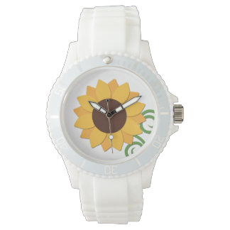 Sunflower White Watch