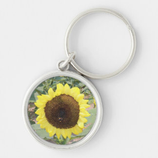 Sunflower with Bee Key Chain
