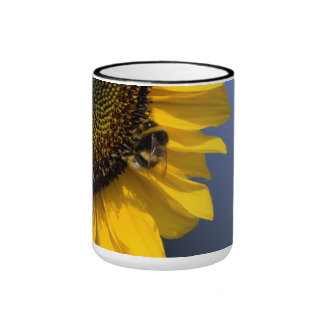 Sunflower with bee mug