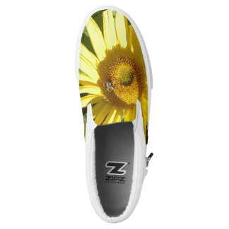 Sunflower with Bee Slip On Shoes Printed Shoes