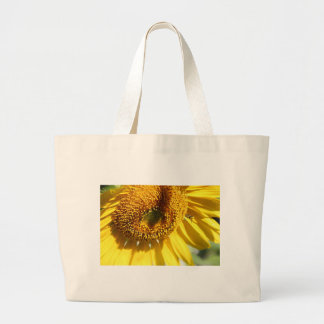 SUNFLOWER WITH BEE Tote Bag