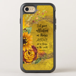 Sunflower with Bible Verse OtterBox Symmetry iPhone 8/7 Case