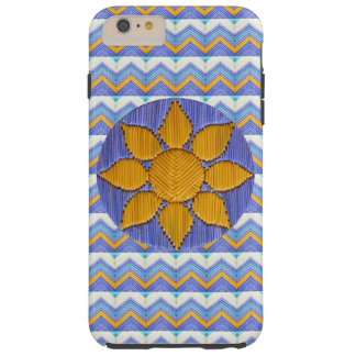 Sunflower with Blue Chevron Tough iPhone 6 Plus Case