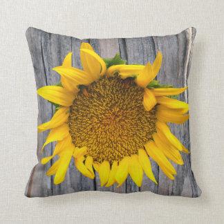 Sunflower Woodgrain  American MoJo Pillo Pillow