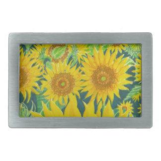 Sunflowers1 Belt Buckle
