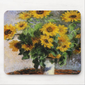 Sunflowers, 1881 by Monet. Mousepad