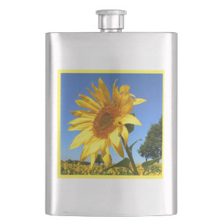 Sunflowers 3.0, Field Of Sunflowers Hip Flask