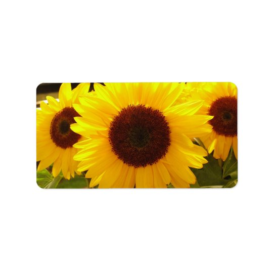 Sunflowers Address Label