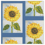 Sunflowers and Blue Fabric